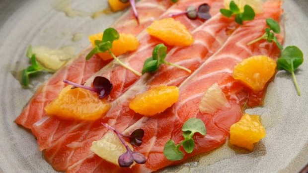 Orto's house-cured salmon carpaccio.