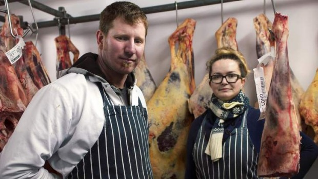 Holistic: At The Butchery in London, Nathan Mills and Ruth Siwinski strive to offer customers every part of the meat ...