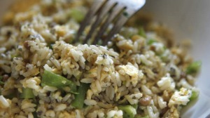 This fried rice recipe is a great way to incorporate healthy and protein-packed natto into your diet.
