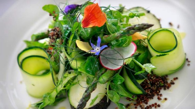 Zucchini and asparagus salad.