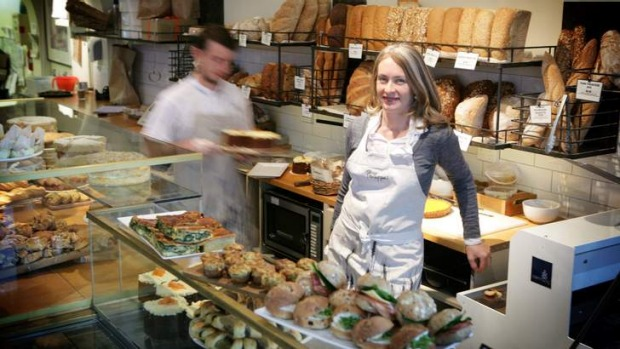 Sharing her butter recipe ... Phillippa Grogan in her High Street, Armadale bakery.