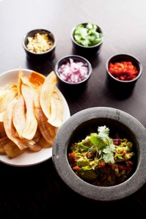Go to dish... Guacamole and Plantain Chips.