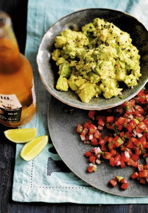 Guacamole and Mexican salsa.