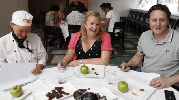 Sweet truths: Chocolate tasters Nicole Caran, Kirsten Tibballs and Darren Purchese put their senses to the test to rank ...