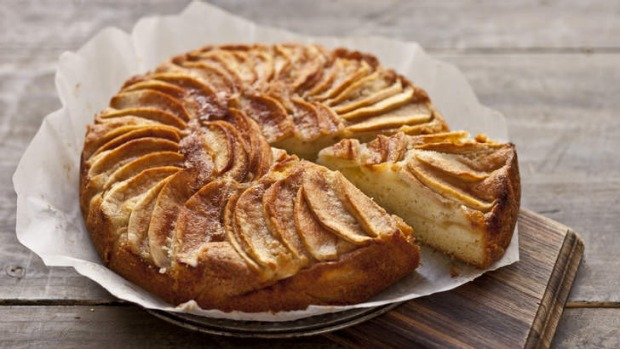 Versatile: Danish apple cake works just as well with rhubarb or peaches.