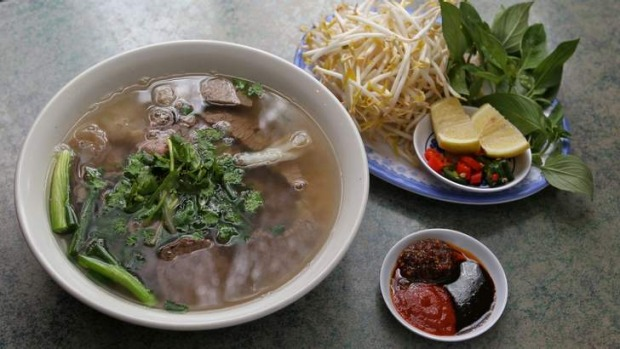 Pho Hung's aromatic beef pho.