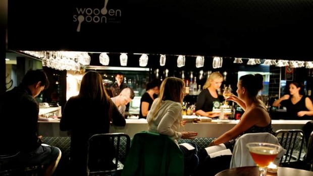 Small wonder: Wooden Spoon Bar and Restaurant offers tasty snacks and top wine.