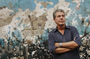 Travelling foodie Anthony Bourdain.