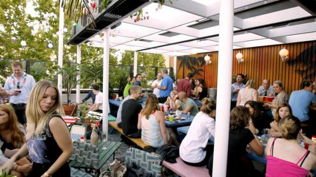 Open-air space: Sweethearts Bar in Kings Cross.