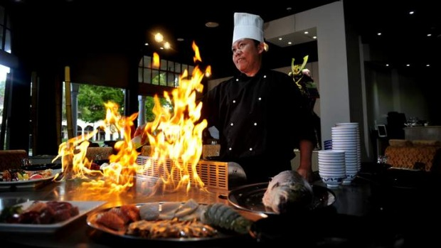 Wasabi teppanyaki civic griffith review 2013 good food - Cuisiner au teppanyaki ...