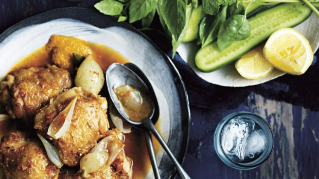 Braised chicken with chillies.