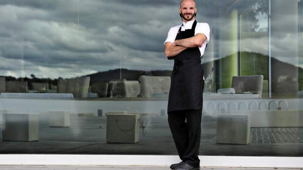 Waters Edge chef Clement Chauvin, outside the restaurant with a view.