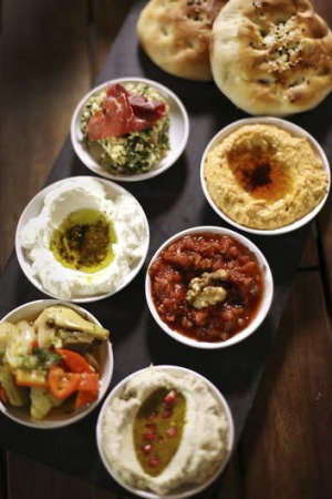 Go-to dish: The Mezebar meze board to share.