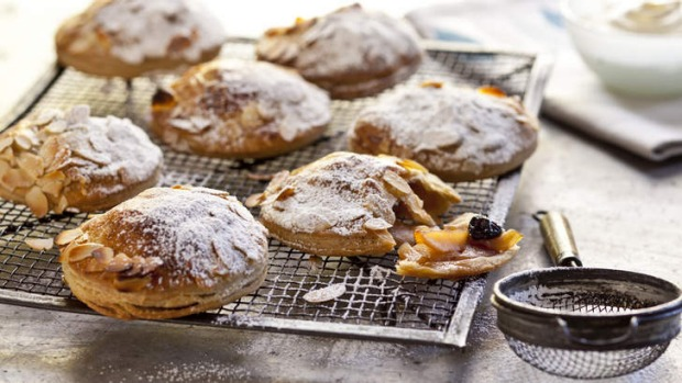 Apple and cherry pies are delicious served with a dollop of custard.