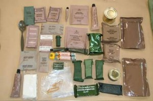 The Combat Ration One Man, a soldier's pack from 2008.