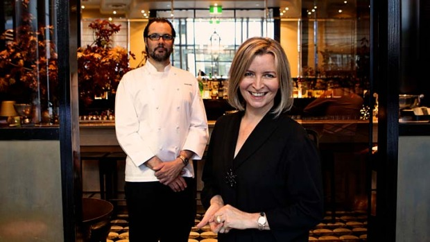 Artistic precision: Vicki Wild, with partner Martin Benn, of Sepia restaurant believes dining out is akin to a theatre ...