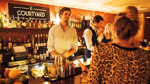 Served with a smile: Friendly bar staff make a pleasant change for Kings Cross.
