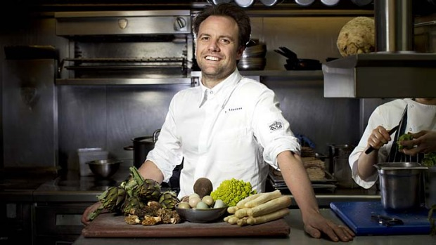 Fresh, flavourful and seasonal: Brett Graham in the kitchen of his award-winning restaurant The Ledbury in Notting Hill.