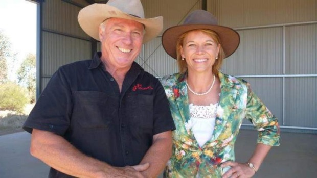 Mini-saga: Steve Feletti and Katrina Hodgkinson at his farm in Cowra.