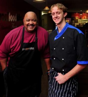 Soulteam ... Victor Kimble of Soulfood and chef Jamie Percival.