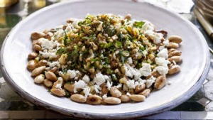 Barley, parsley and cauliflower salad.