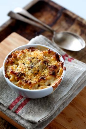 Comfort never goes out of fashion: Mac and cheese.