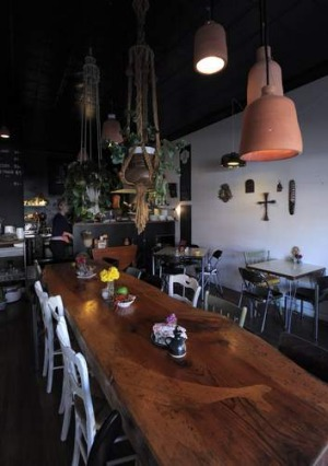 Cosy ... Inside the Paydirt Eatery in Braidwood.