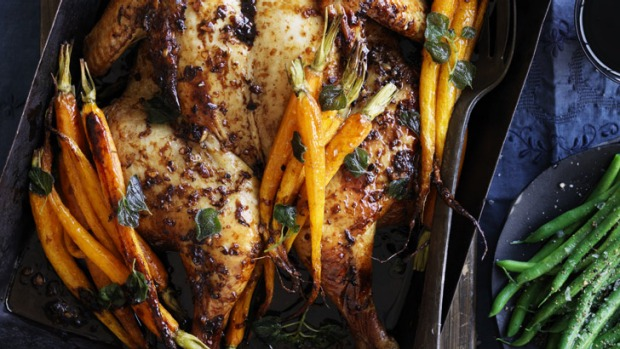 Thyme, oregano and citrus chicken.