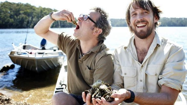 Sea change ... River Cottage Australia's Paul West with Hugh Fearnley-Whittingstall