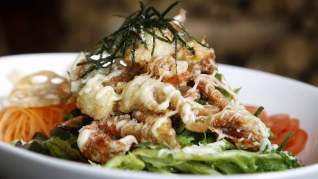 Softshell crab salad.