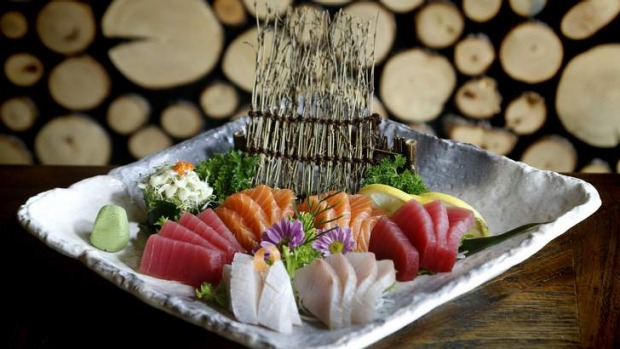 The large mixed sashimi platter at Kokoro.