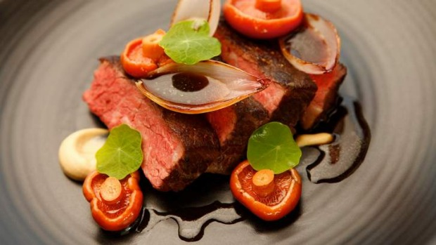 Go-to dish: Beef short rib, burnt onion skordilia, pine mushrooms.