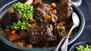 Twice-cooked veal shanks.