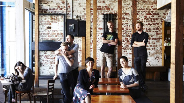 Staff at winning cafe, North Melbourne's Auction Rooms, pictured last year.