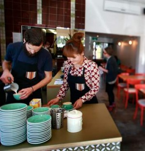 The Resident's Clare Hu (with barista Alister Frew) are bringing good coffee to Ashburton.