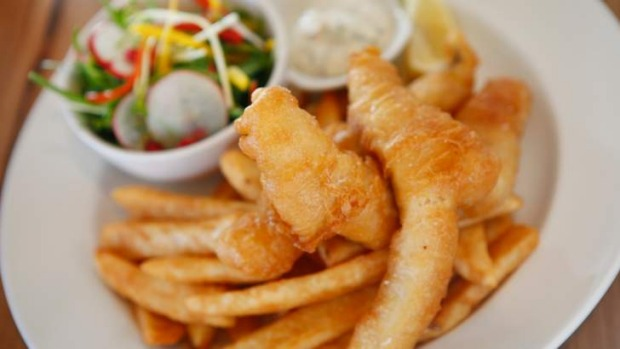 Fish and chips are done with smarts and quality produce at the Plough Hotel.