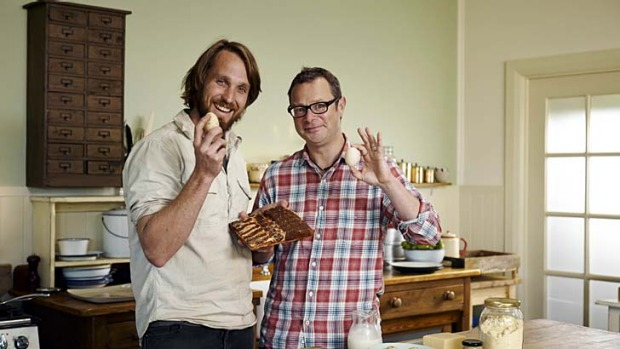 Food obsessions: Paul West joins Hugh Fearnley-Whittingstall in the kitchen.