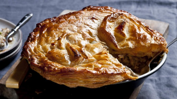 Chicken Leek And Mushroom Pie