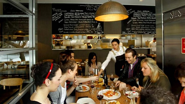 Making you happy makes them happy: Tappo Osteria, Pyrmont.