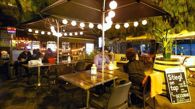 Courtyard setting: Bakerman offers diners and drinkers a relaxing, intimate night out in Erskineville.