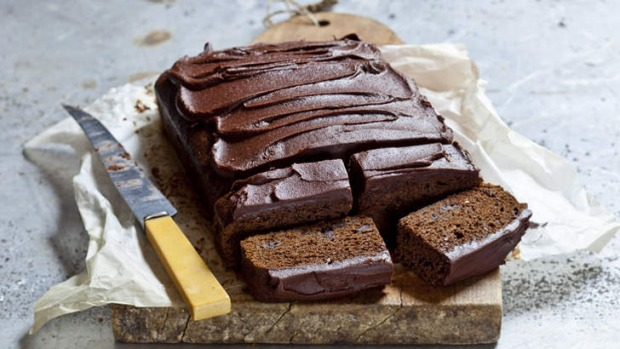 Sticky chocolate gingerbread cake.