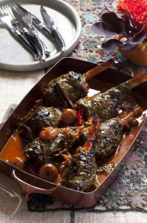 Pinot noir is brilliant with slow-cooked lamb shanks with Middle Eastern spices.