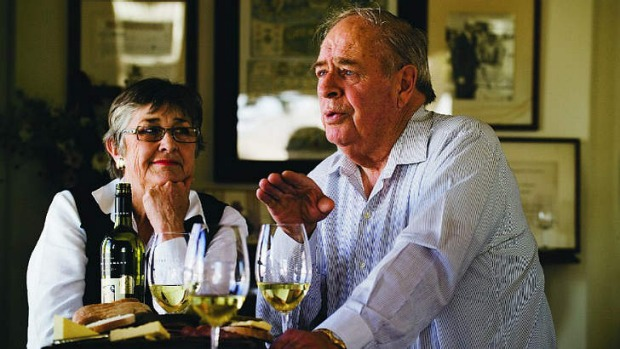 Margaret Lehmann and Peter Lehmann from Peter Lehmann Wines.