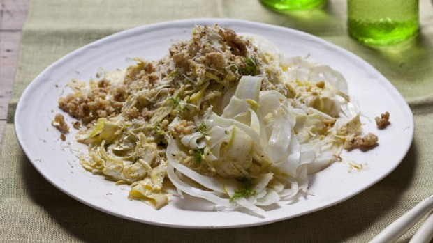 Shaved fennel and artichoke salad.