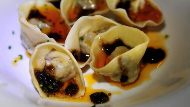 Pork and prawn tortellini.