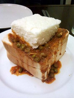 South African: Bunny chow from Durban Dish, Baulkham Hills.