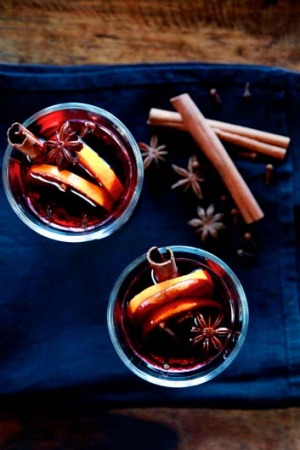 Instant central heating: Mulled wine.