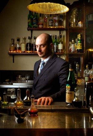 Top shelf: Michael Madrusan, from the Elk Room at the Everleigh hotel, mixes it with the best.