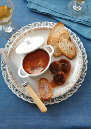 Chicken liver pt with port jelly and drunken figs recipe good food murdoch recipe article lead narrow forumfinder Image collections