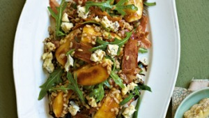 Pearl barley and apple salad.